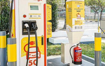 Greenlots Installs Shell's First Electric Vehicle Fast-Charger in Singapore